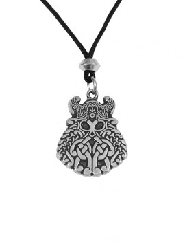 Pewter Odin Viking Warrior God Amulet